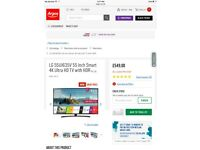 "Brand New LG 55UJ635V 55"" Smart 4K Ultra HD TV with HDR"