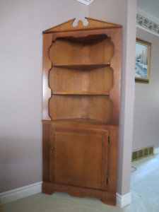 Colonial Style Buffet Hutch And Matching Corner Cabinet