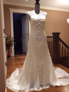 Ivory lace vintage inspired wedding dress