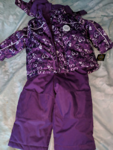 Purple with white hearts 18-24 month George snow suit