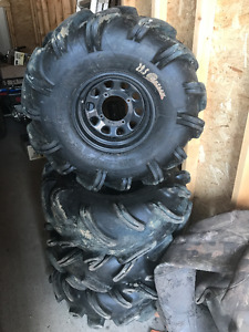 "29"" High Lifter Outlaw Tires with Can Am Wheels"