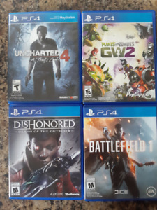 PS4 Games, Uncharted 4, Dishonored: DOTO, Battlefield
