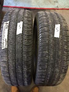 2 Goodyear Wrangler SRA - 255/75/17 - 50% - $40 For Both