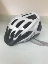 Women's specialized cycle helmet.
