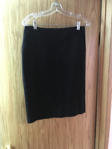 BRAND NEW Black Suede Skirt by Danier