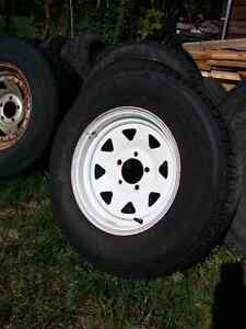 """14"""" Trailer Rims and Tires"""