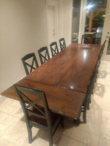 Dining room table and chairs - seats up to 20 people - $1950