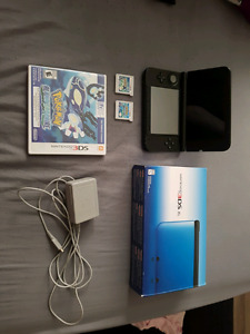 Teal 3ds with pokemon games