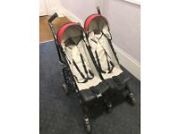Double buggy pram pushchair