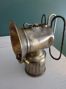 Antique Carbide Miner's Lamp - 1915