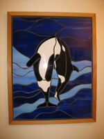 Moving Sale - Stained glass Mosaic Orcas