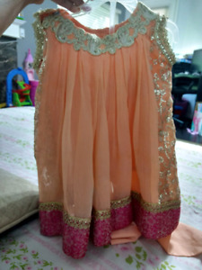 Toddler peach  dress 1 to 2.5 yr  . 2pc suit