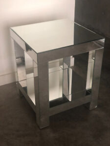 2 Mirrored End Tables for $300