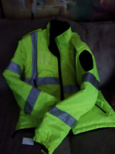 Opus Lime colour safety jacket for women brand new