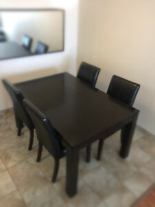 Contemporary Dining Table Set (6 chairs)