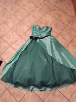 Teal Prom Dress Size 18-20