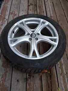 Studded Winter Tires with alloy rims 205/50R17