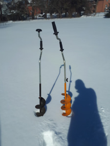 2 Hand Ice Augers