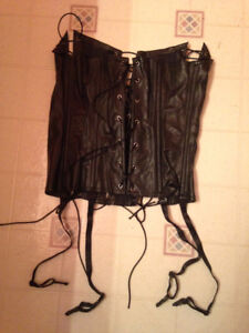 Sexy Black Faux Corset - NEW...fits small