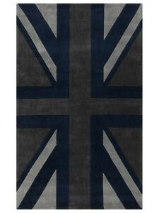 Brand New Union Jack Carpet 8x11