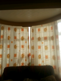Contemporary print curtains