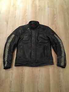 Men's Small Leather Triumph Café Racer jacket