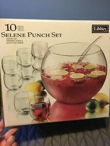 10 piece punch bowl set, used once