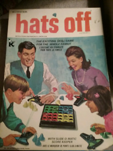 1967 Hats Off Board Game