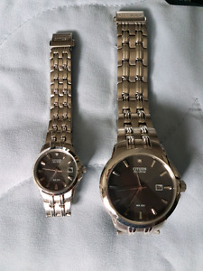 Citizen HIS AND HER ECO DRIVE WATCHES