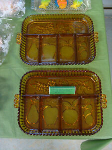 Fruit Relish Dish 5part 'Indiana Amber' Peterborough Peterborough Area image 1