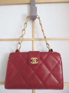Fabulous Brand New Red Chanel Classic Flap Clutch Leather