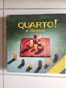 Reduced!Quarto Board game, age 6 and up.  20 min playing time.