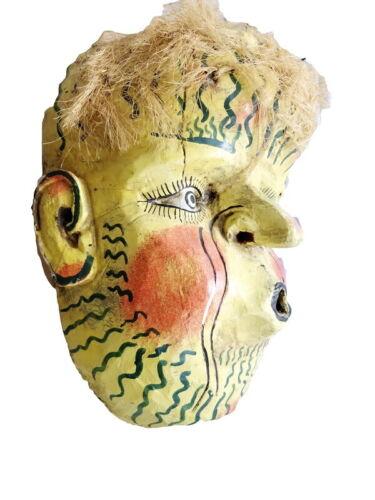 Mexican Folk Art Large Wood Mask Wind From Oaxaca México Day of Dead Festival
