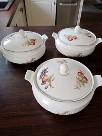 Marks and Spencer vintage dishes with lids