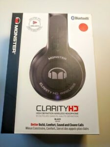 Monster Clarity HD On-Ear Sound Isolating Wireless Headphones
