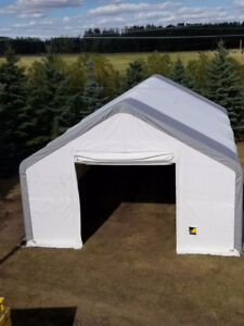 NEW! 30' DOUBLE TRUSS FABRIC STORAGE BUILDINGS