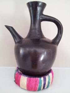 Ethiopian Clay Coffee Pot (Jebena) with Ring Stand London Ontario image 2