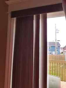 Blinds for 5 ft patio door includes top header