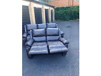 HARVEYS BEL AIRE 3+2 SEATER RECLING SOFA SET EXDISPLAY MODEL