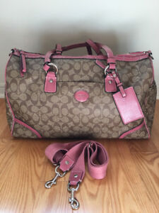 Gorgeous Coach Weekender in Mauve Pink - Used