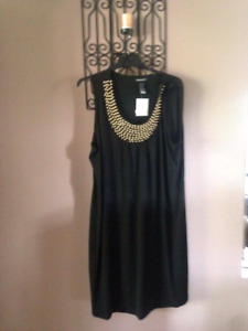 Black dress with sequins...new with tags..size 22w