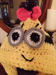 Hello kitty and minion girl cowl  hooded crochet Windsor Region Ontario image 1