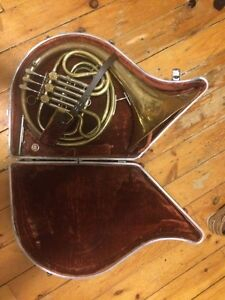 French horn with mouthpiece and case!