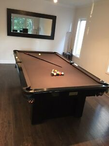 8ft POOL TABLE INSTALLED - NEW FELT - ANY COLOUR