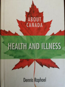 Title About Canada : health and illness Author Raphael, Dennis.