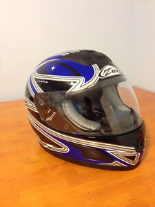 Blue Zox Motorcycle Helmet (small)