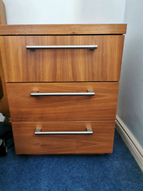Walnut Next bedroom furniture 2 x bedside cabinets 1 x wardrobe