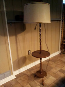 Vintage Solid Wood Floor Lamp