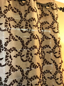 Embroidered curtains/ drapery