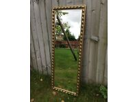 Gilt framed hall mirror